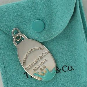 Return To Tiffany & Co. Color Splash Oval Tag